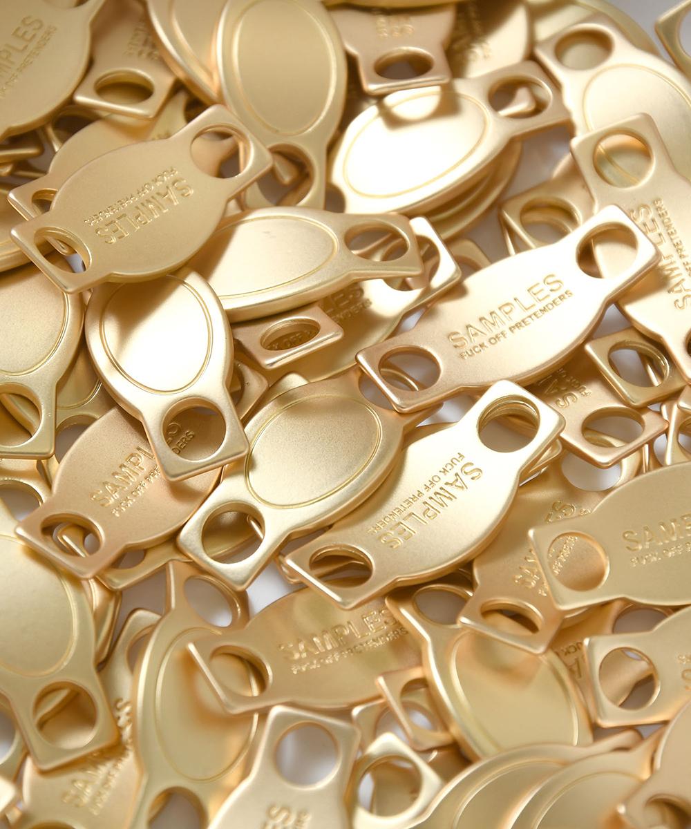 【7月上旬発送予定】SAMPLES FOP サンプルズ SHOE ACCESSORY - NAMELESS - シューズアクセサリー GOLD ゴールド