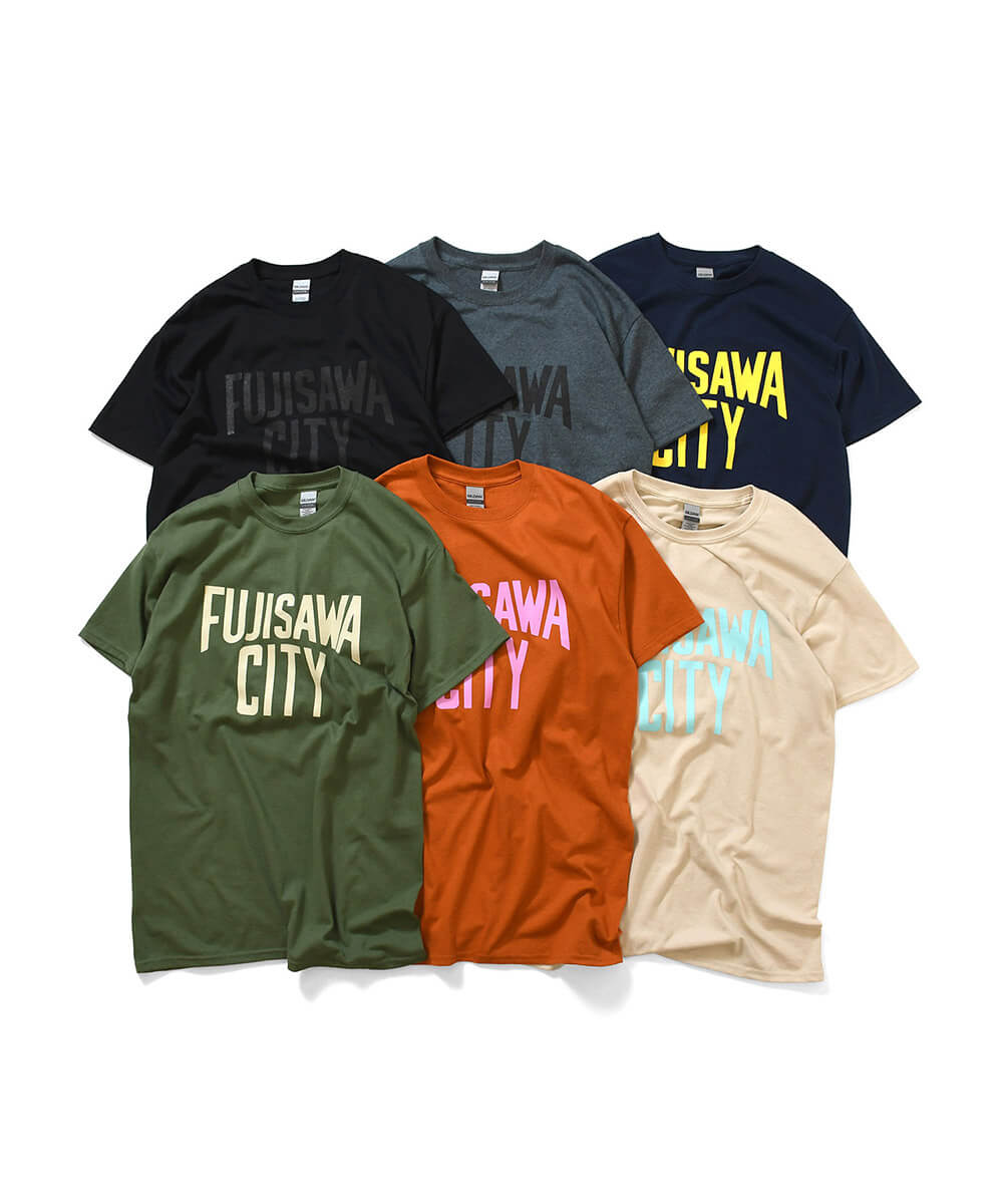 FUJISAWA CITY フジサワシティ LOGO TEE 半袖 Tシャツ T.ORANGE×PINK テキサスオレンジ×ピンク