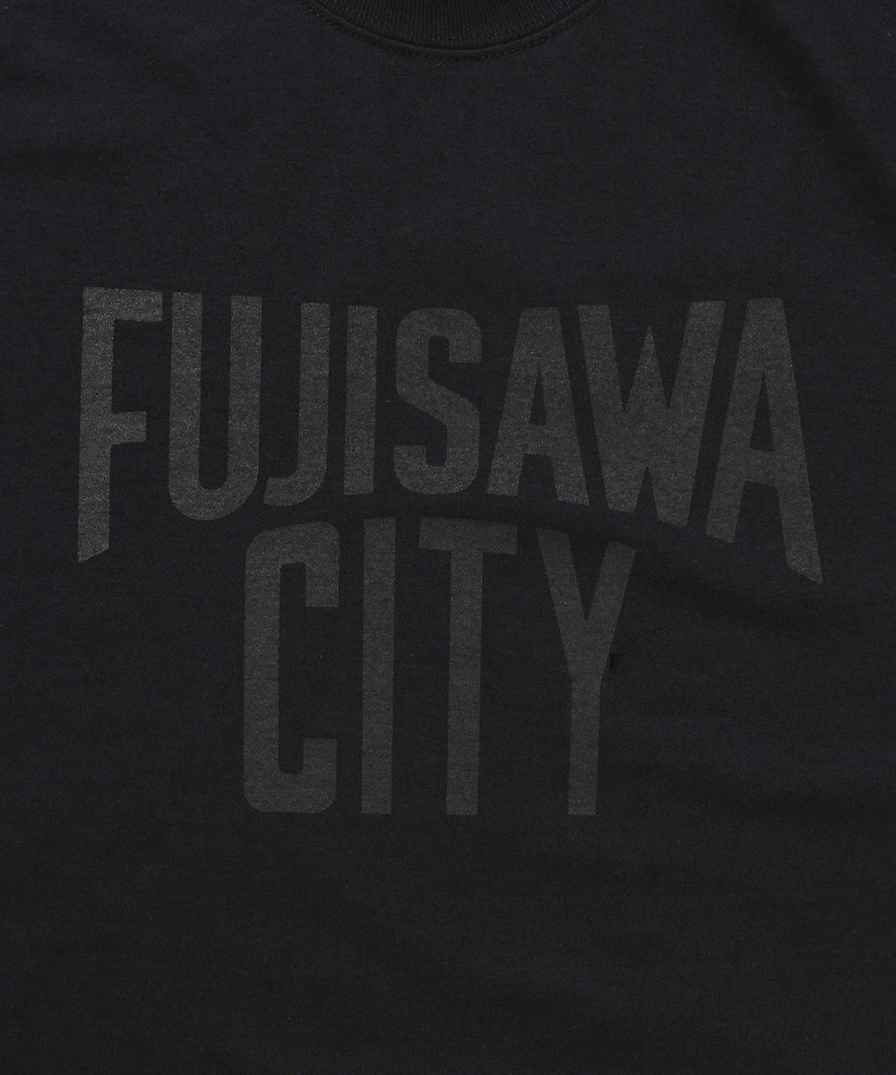 FUJISAWA CITY フジサワシティ LOGO TEE 半袖 Tシャツ BLACK×BLACK ブラック×ブラック