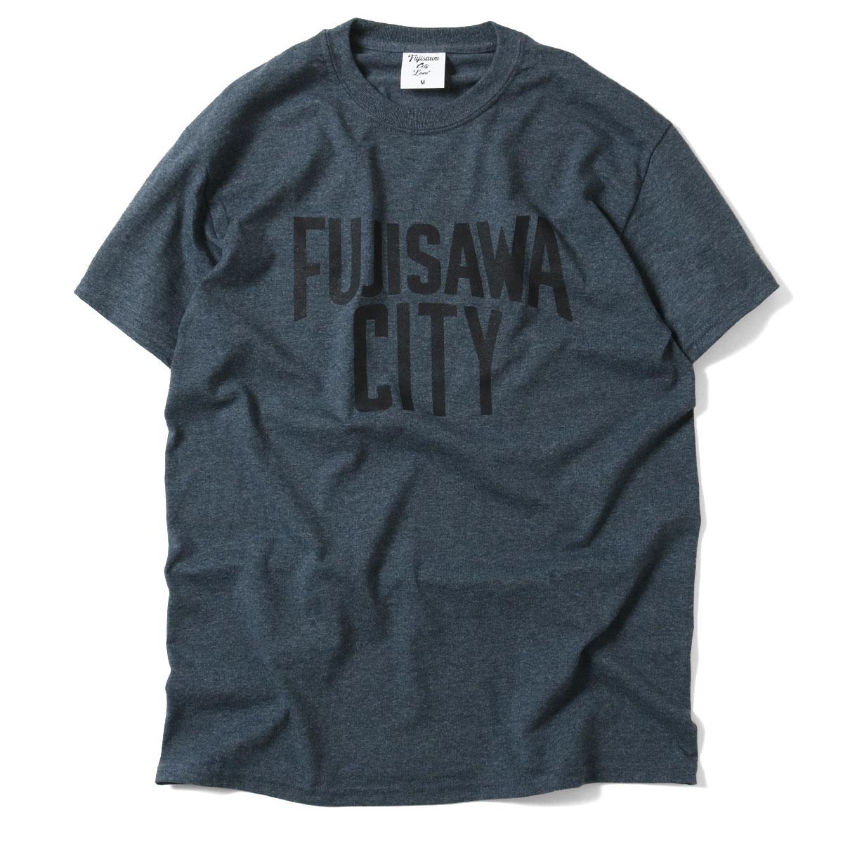 FUJISAWA CITY フジサワシティ LOGO TEE 半袖 Tシャツ DARK HEATHER×BLACK ダークヘザー×ブラック