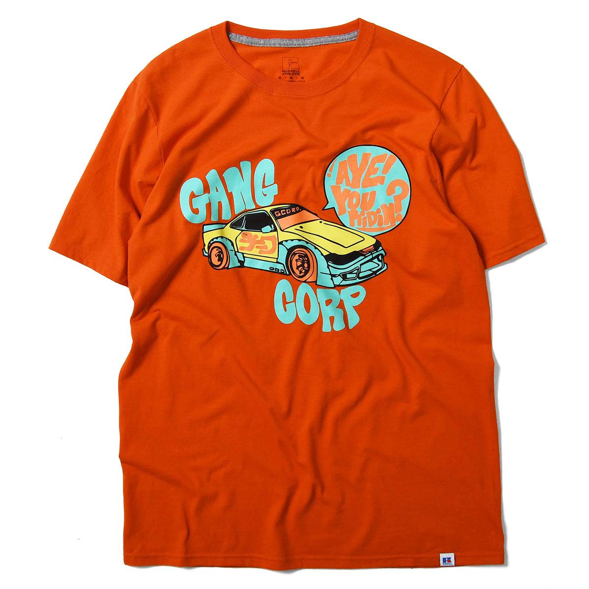 GANGCORP ギャングコーポ CORP MOBILE TEE 半袖 Tシャツ ORANGE オレンジ