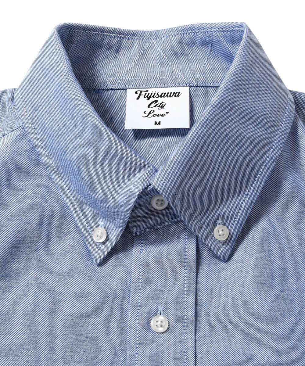 FUJISAWA CITY フジサワシティ LOGO OXFORD SHIRT オックスフォードシャツ BLUE ブルー