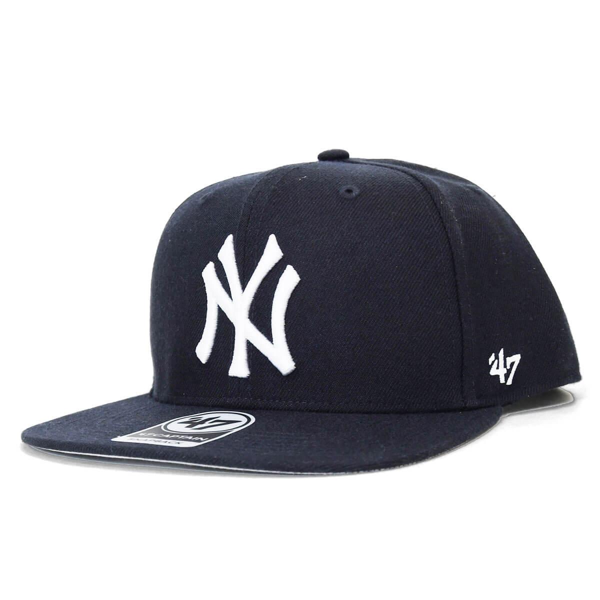 47 Brand 47 ブランド Yankees SURE SHOT 47 CAPTAIN スナップバックキャップ SRS17WBP NAVY ネイビー