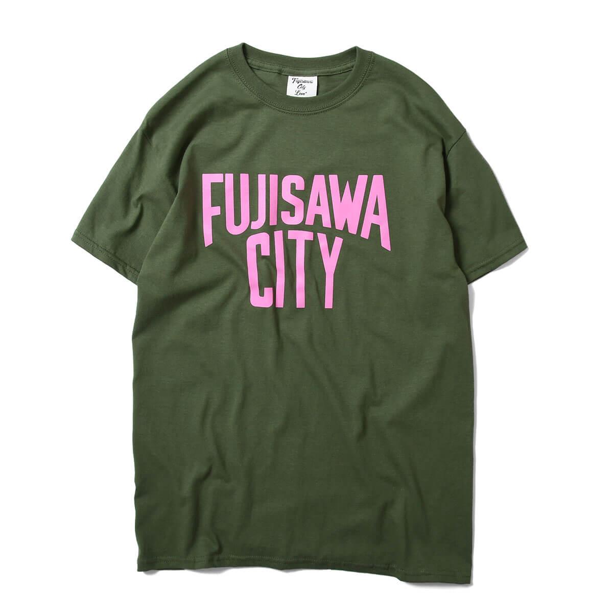 FUJISAWA CITY フジサワシティ LOGO TEE 半袖 Tシャツ GREEN/PINK グリーン/ピンク