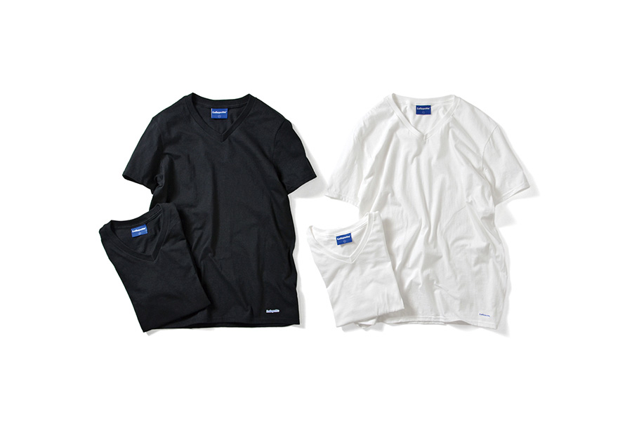Lafayette ラファイエット 2 PACK V- NECK LOGO TEE 二枚入り 半袖 Tシャツ LFTBL004 WHITE ホワイト