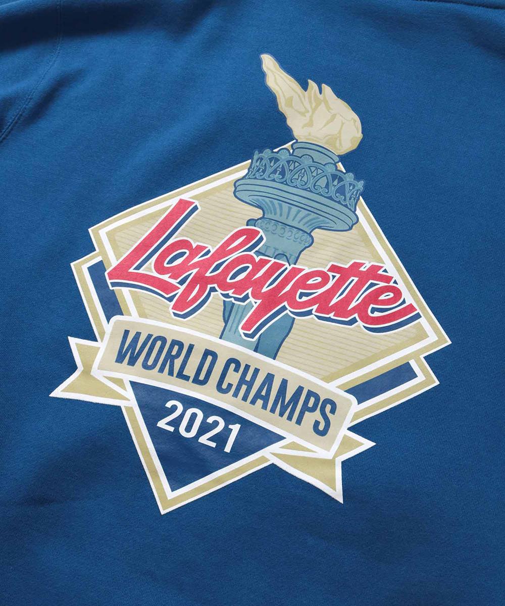 LFYT エルエフワイティー WORLD CHAMPS 2021 LF LOGO HOODED SWEATSHIRT プルオーバー パーカー LA210502 ROYAL ロイヤル
