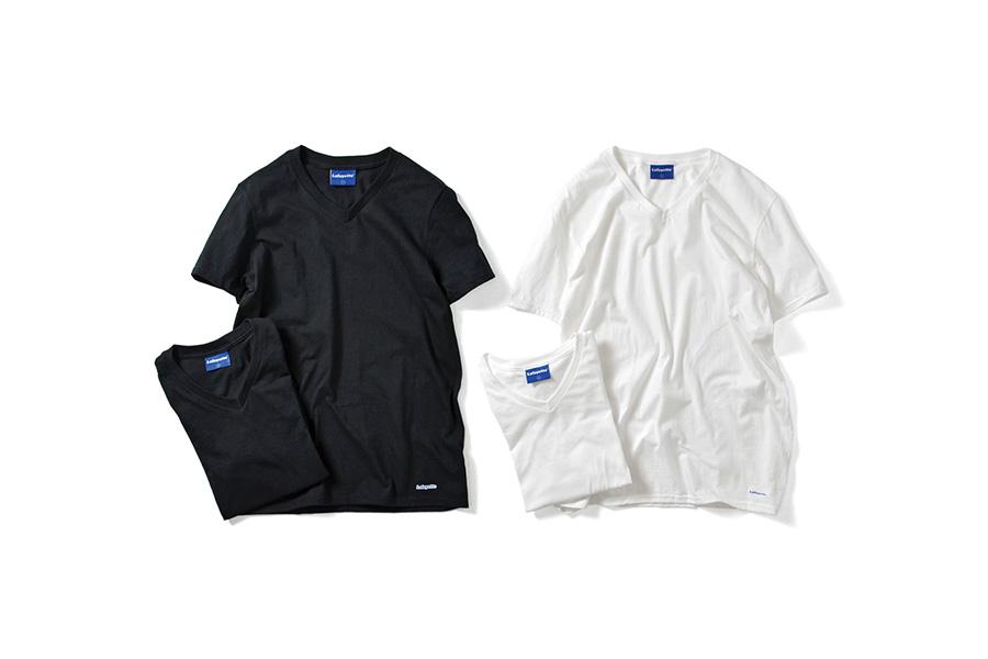 Lafayette ラファイエット 2 PACK V- NECK LOGO TEE 二枚入り 半袖 Tシャツ LFTBL004 BLACK ブラック
