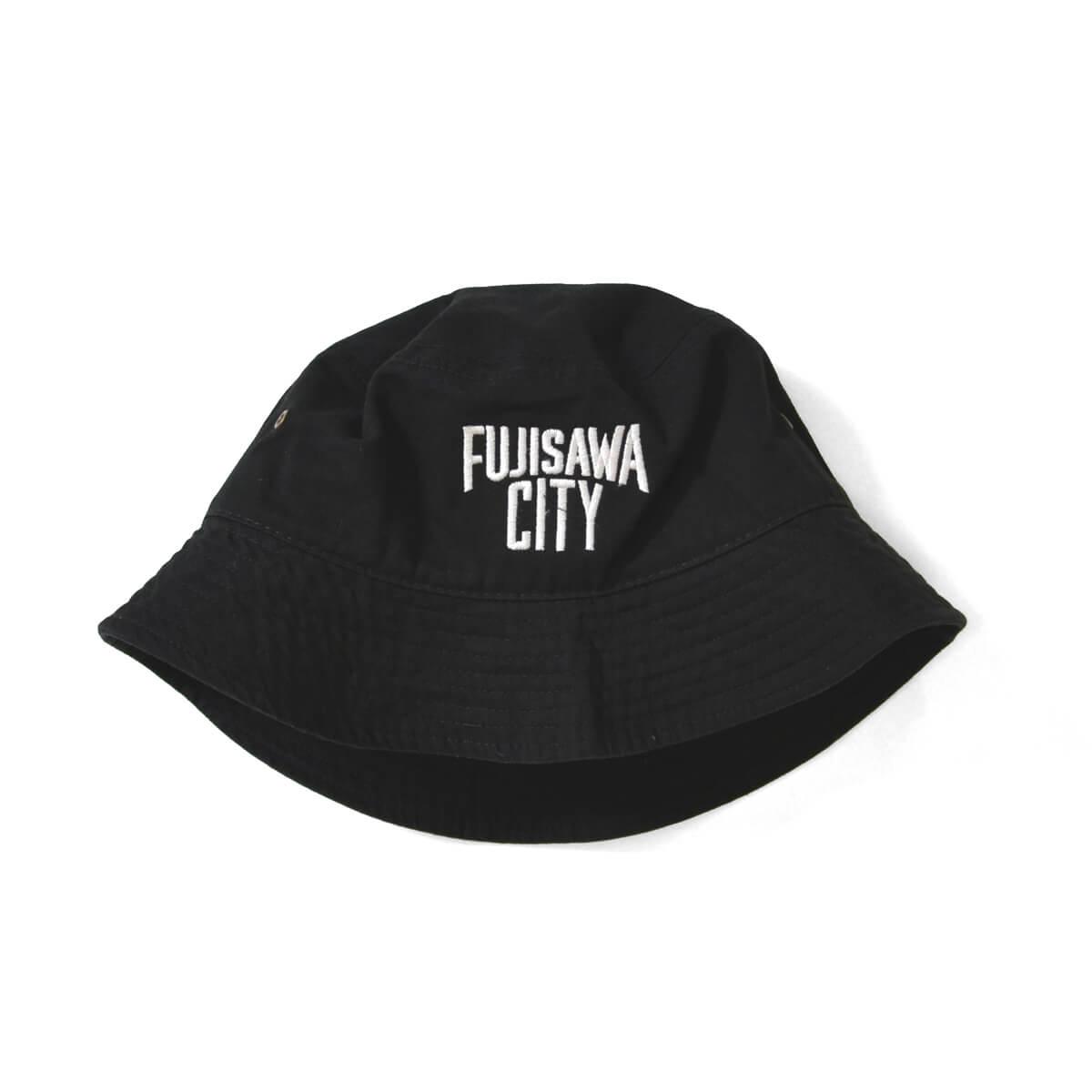 FUJISAWA CITY フジサワシティ LOGO BUCKET HAT バケットハット BLACK