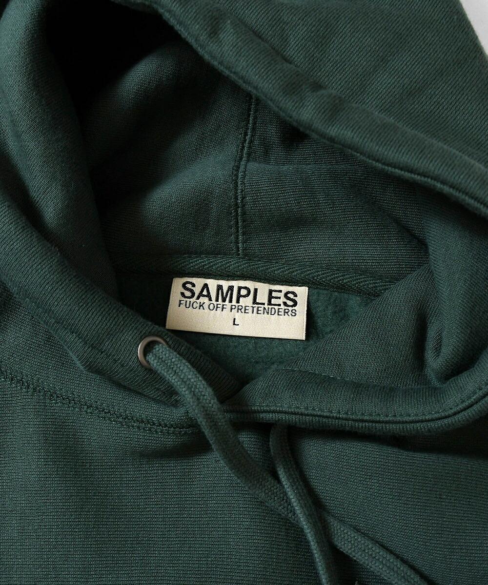 【受注予約:3月中旬以降発送】SAMPLES FOP サンプルズ BLOOMING LOGO PULLOVER HOODIE プルオーバーパーカー DARK GREEN ダークグリーン