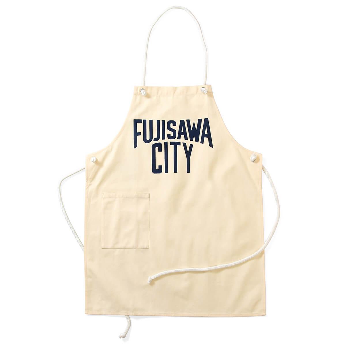 FUJISAWA CITY フジサワシティ LOGO CANVAS APRON エプロン OFF WHITE オフホワイト