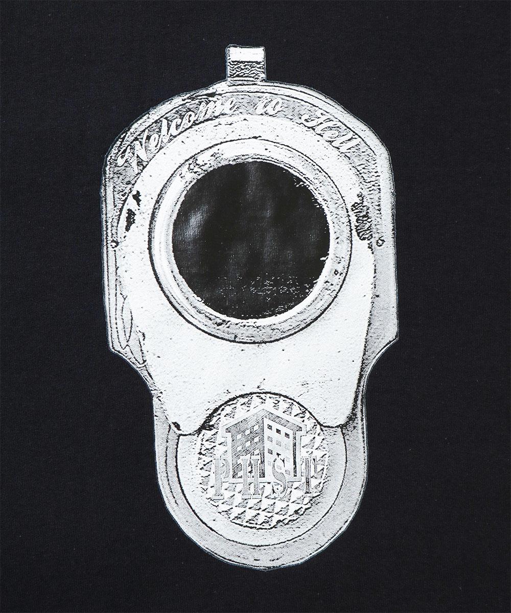 PUBLIC HOUSING SKATE TEAM パブリック ハウジング スケート チーム PHST GUN BARREL TEE 半袖 Tシャツ BLACK ブラック