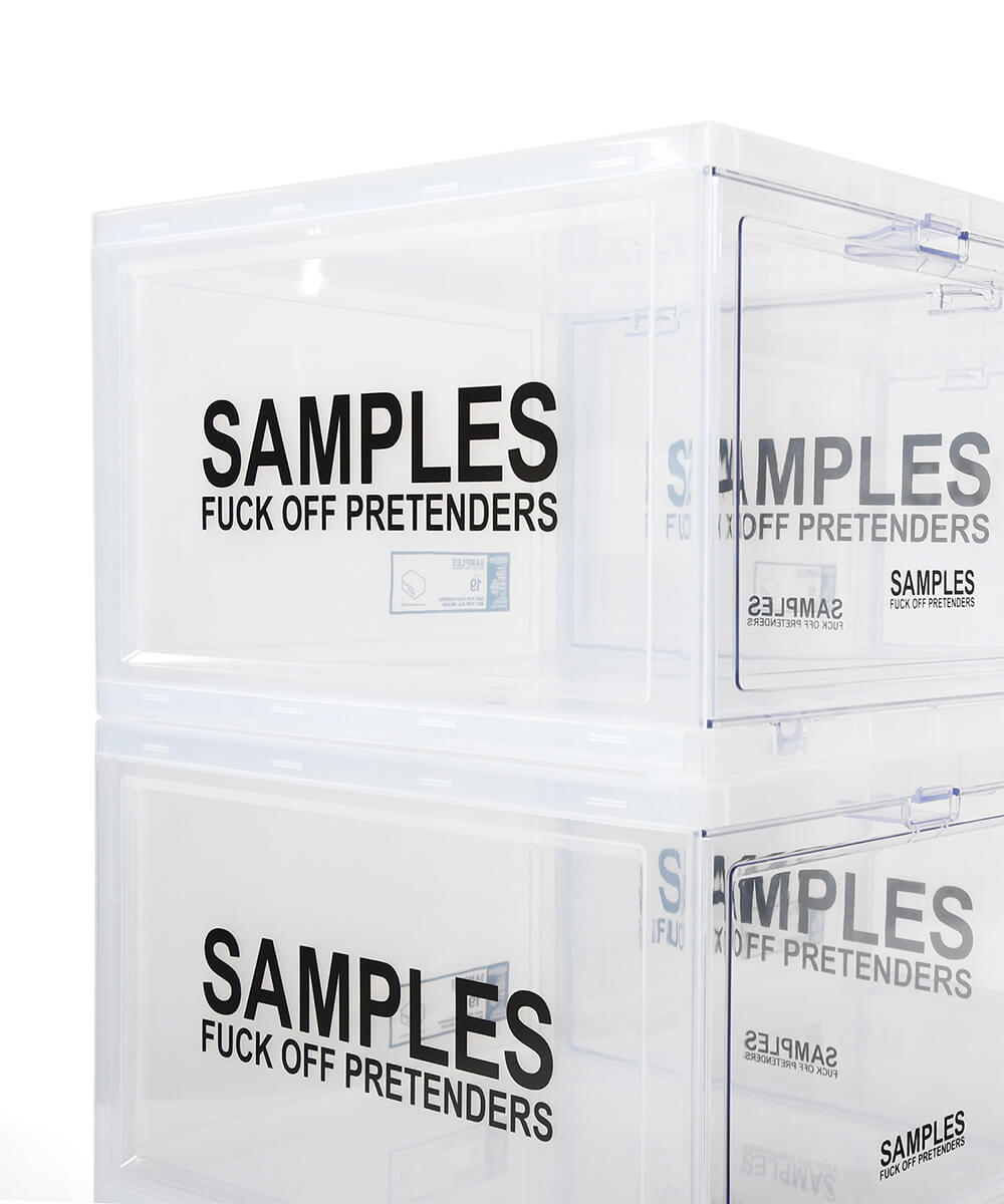 【6月中旬頃発送予定】SAMPLES サンプルズ×TOWER BOX タワーボックス TOWER BOX PLUS スニーカーボックス CLEAR クリア