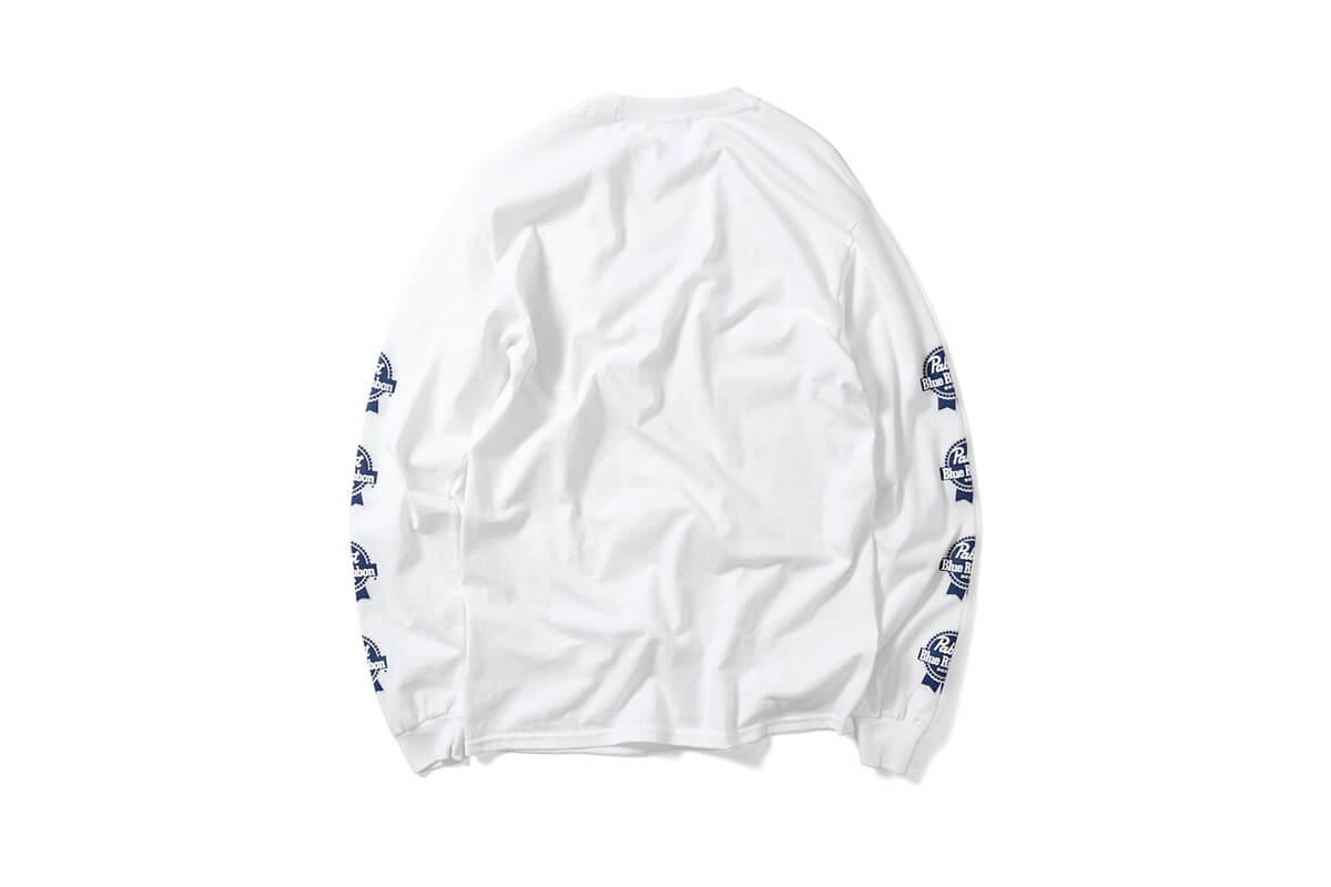 PABST BLUE RIBBON パブストブルーリボン SMALL LOGO L/S TEE 長袖 Tシャツ WHITE ホワイト