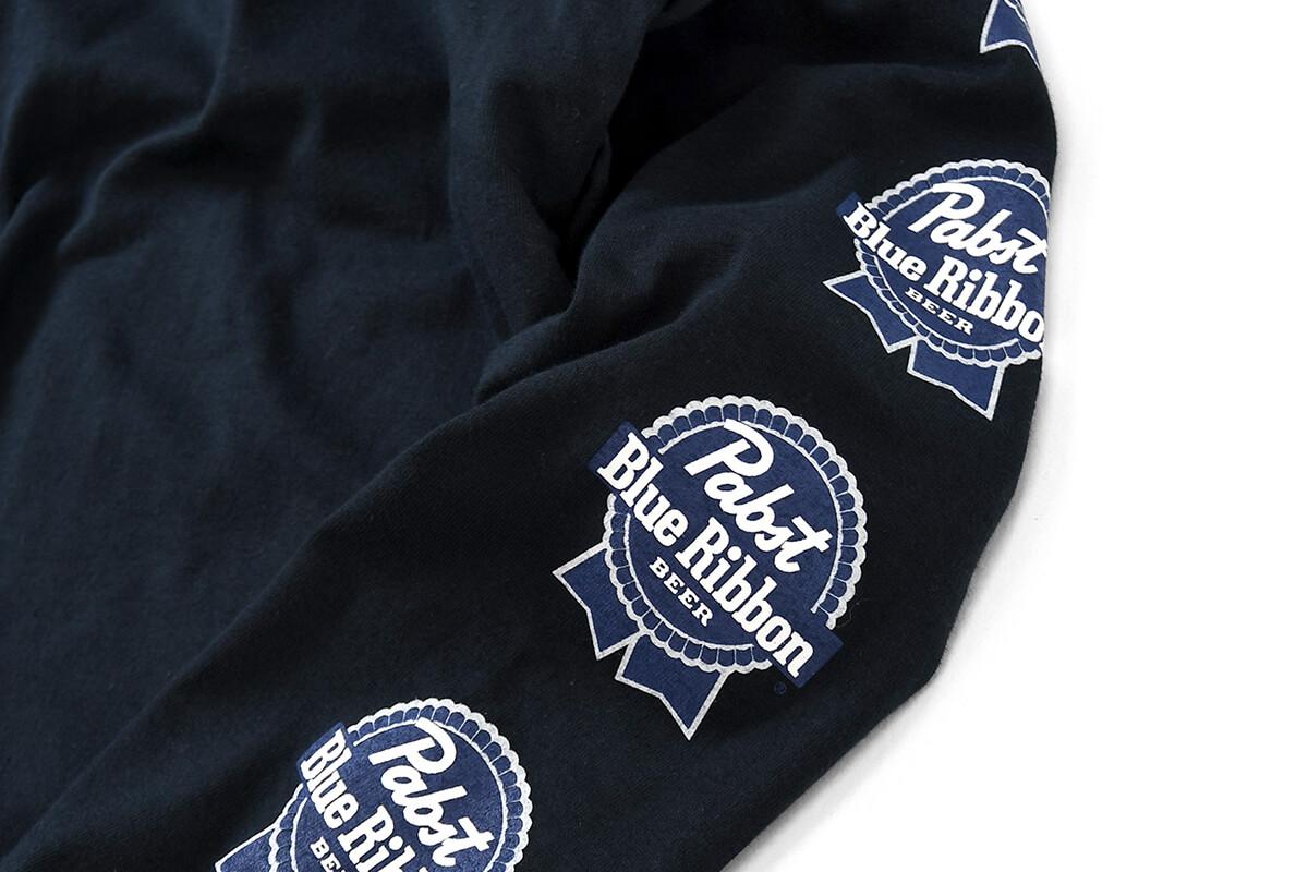 PABST BLUE RIBBON パブストブルーリボン SMALL LOGO L/S TEE 長袖 Tシャツ BLACK ブラック