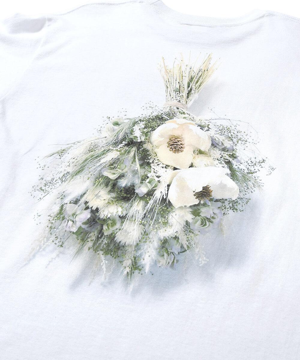 【受注予約:8月中旬頃発送】 SAMPLES サンプルズ LOST FLOWER BOX LOGO TEE 半袖Tシャツ WHITE/NATURAL ホワイト/ナチュラル