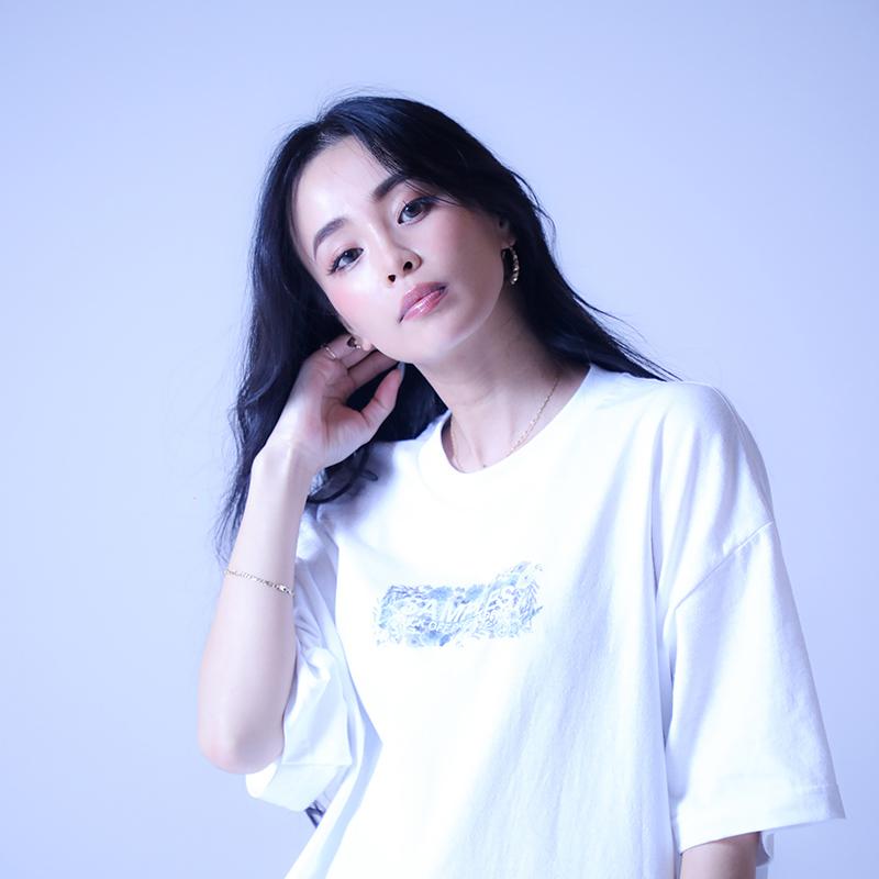 【受注予約:8月中旬頃発送】 SAMPLES サンプルズ LOST FLOWER BOX LOGO TEE 半袖Tシャツ WHITE/PINK ホワイト/ピンク