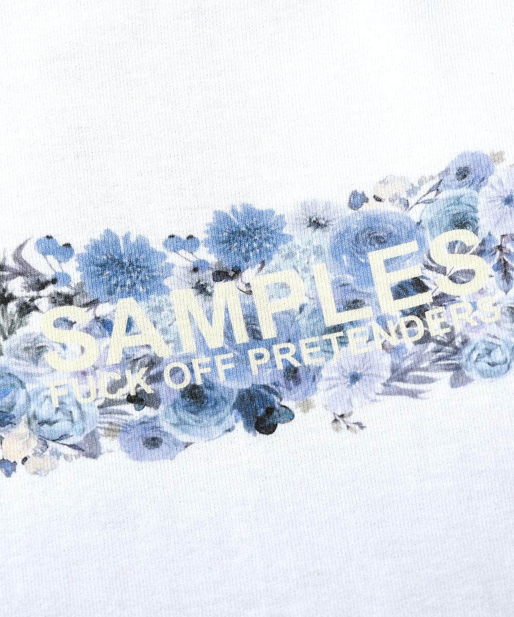 【受注予約:8月中旬頃発送】 SAMPLES サンプルズ LOST FLOWER BOX LOGO TEE WHITE/BLUE ホワイト/ブルー