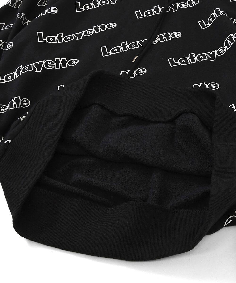 LFYT エルエフワイティー OUTLINE LOGO ALLOVER HOODED SWEATSHIRT プルオーバーパーカー LA200501 BLACK ブラック