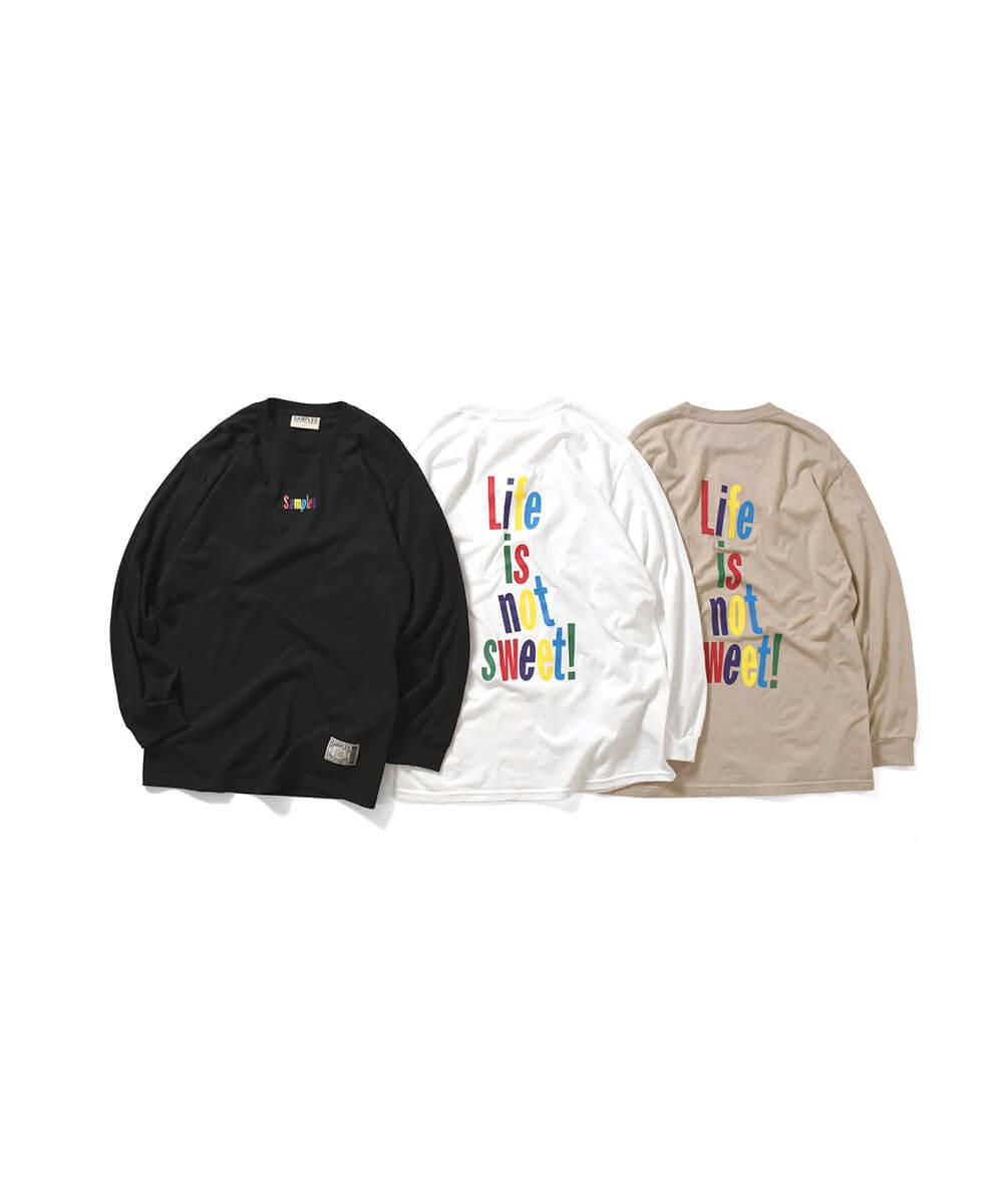 【受注予約:11月下旬頃発送】SAMPLES FOP サンプルズ LIFE IS NOT SWEET L/S TEE 長袖Tシャツ WHITE ホワイト