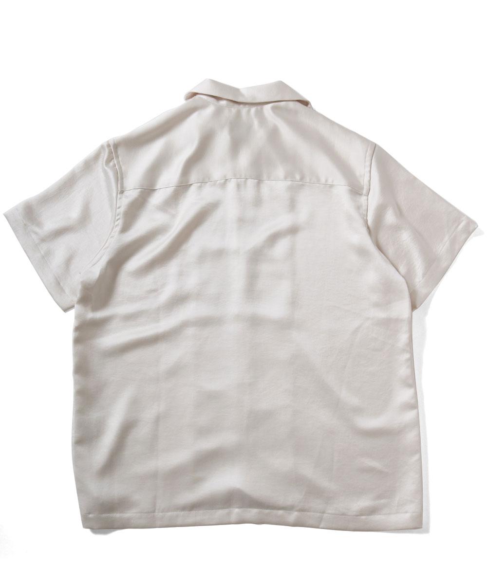 CHARMAN シャルマン LOGO OPEN COLLAR SHIRT 半袖 シャツ WHITE ホワイト
