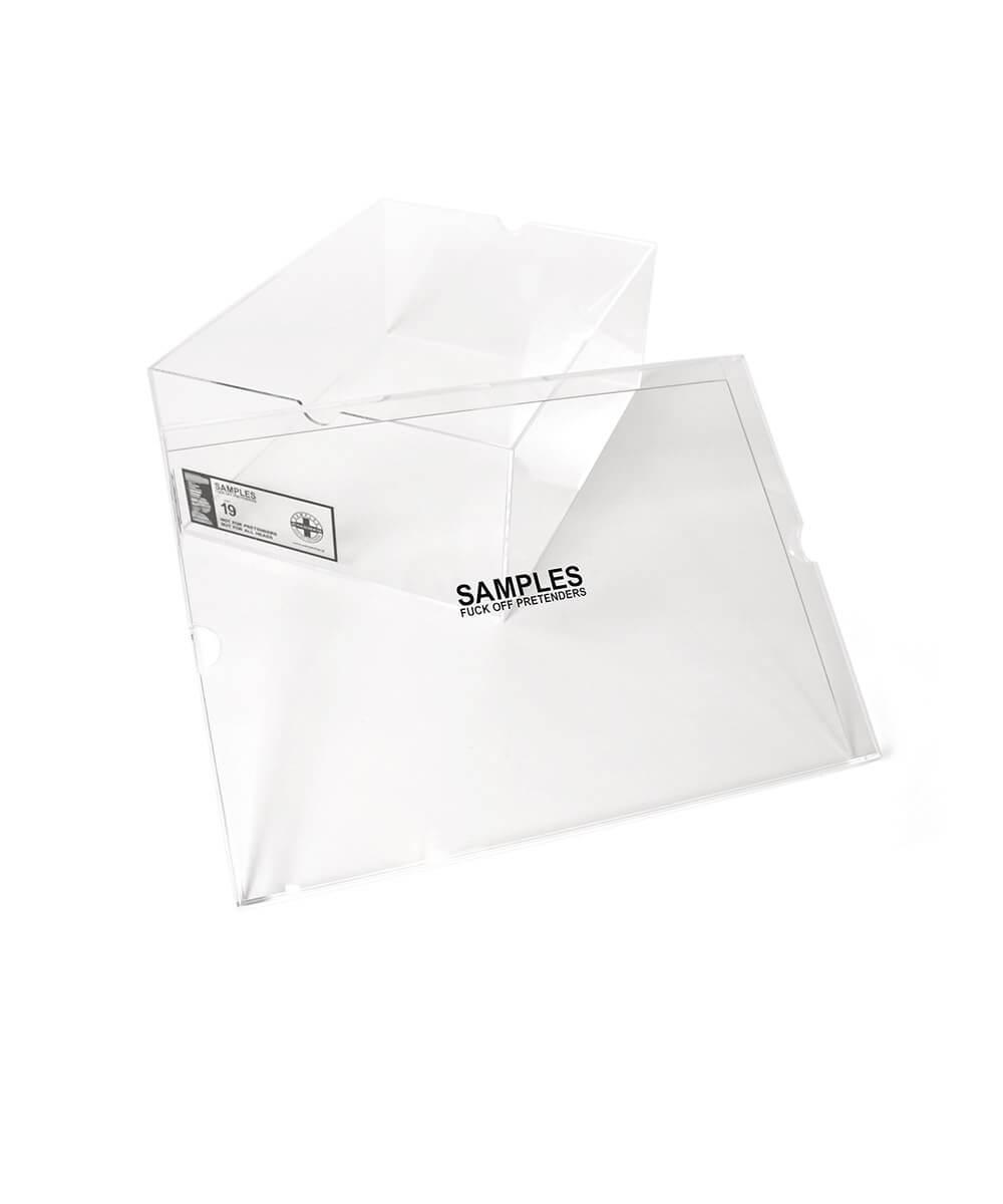 【受注予約:10月下旬頃発送】SAMPLES FOP サンプルズ JUNKIE HOUSE ACRYLIC SNEAKER BOX スニーカーボックス CLEAR クリア