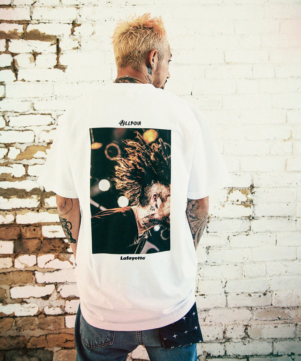 【受注予約:10月上旬頃発送】LFYT × ALLY&DIA × JESSE エルエフワイティー × アリーアンドダイア × ジェシー GOD SPEED TEE 半袖Tシャツ LE200110 WHITE ホワイト