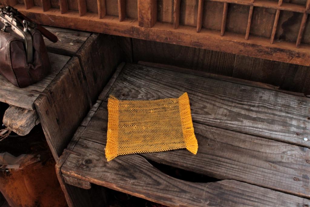 オールドキリム使用 コースターS黄 11×10