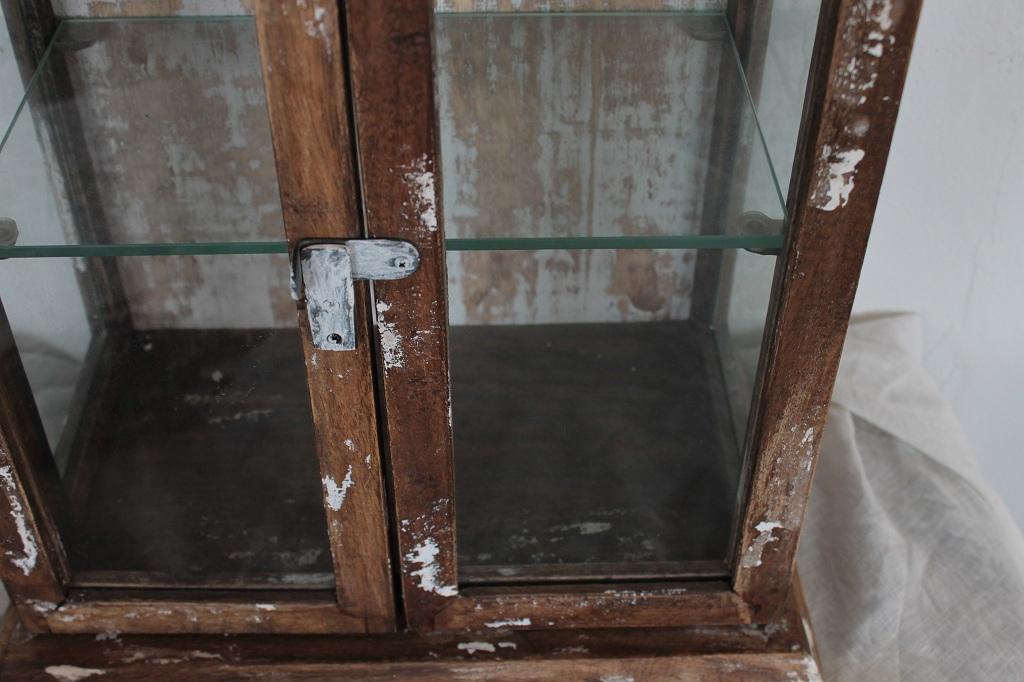 小さめ 卓上サイズ ガラスキャビネット 高さ41cm