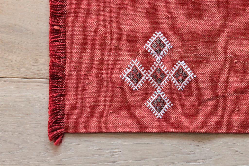 オールドキリムリメイク テーブルセンター 赤 a 43×31