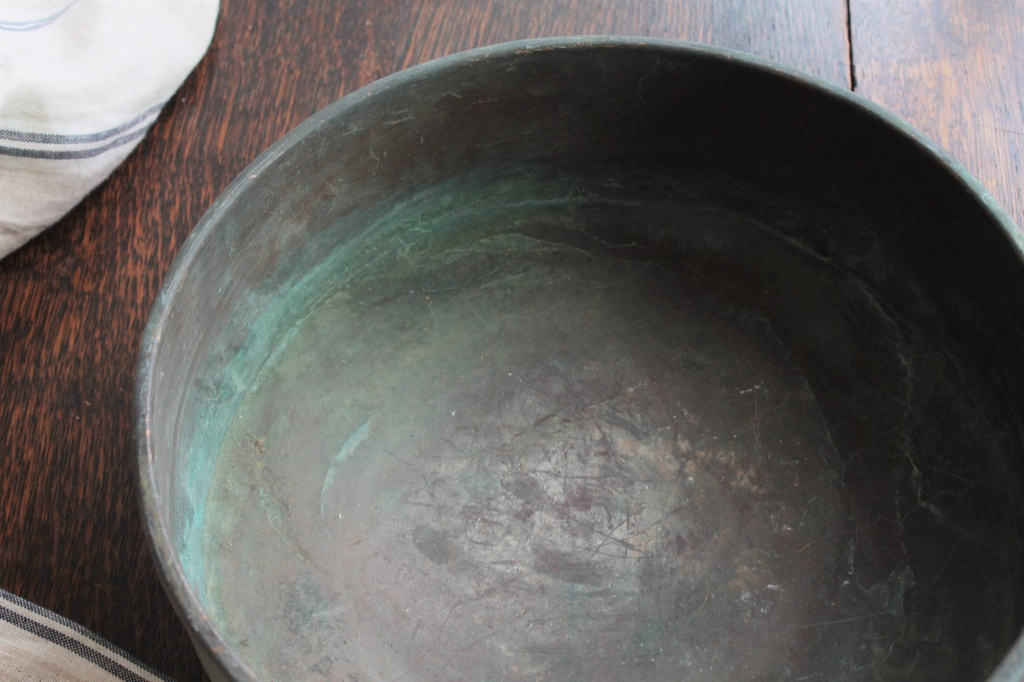 古道具 銅の古い洗面器