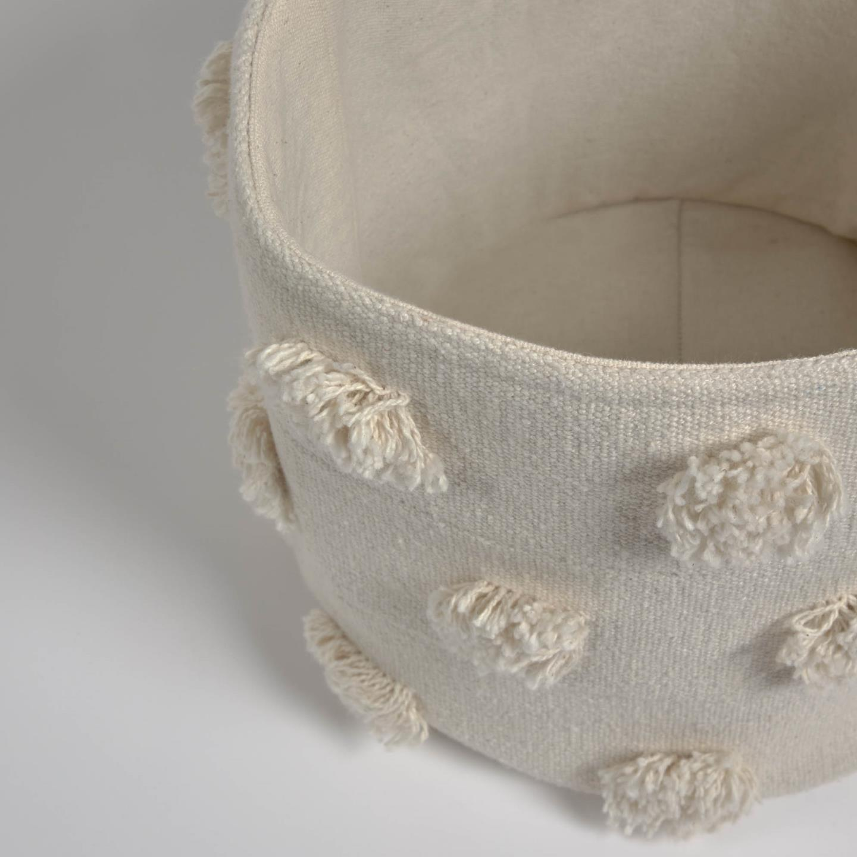 Small Khrista basket in beige