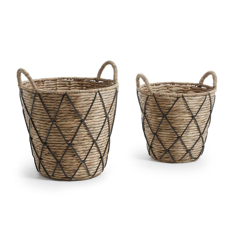 MAJA Set 2 baskets water hyacinth natural