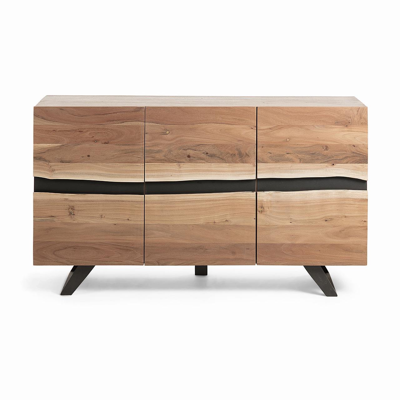 IRVIN Sideboard 148x85 metal wood acacia