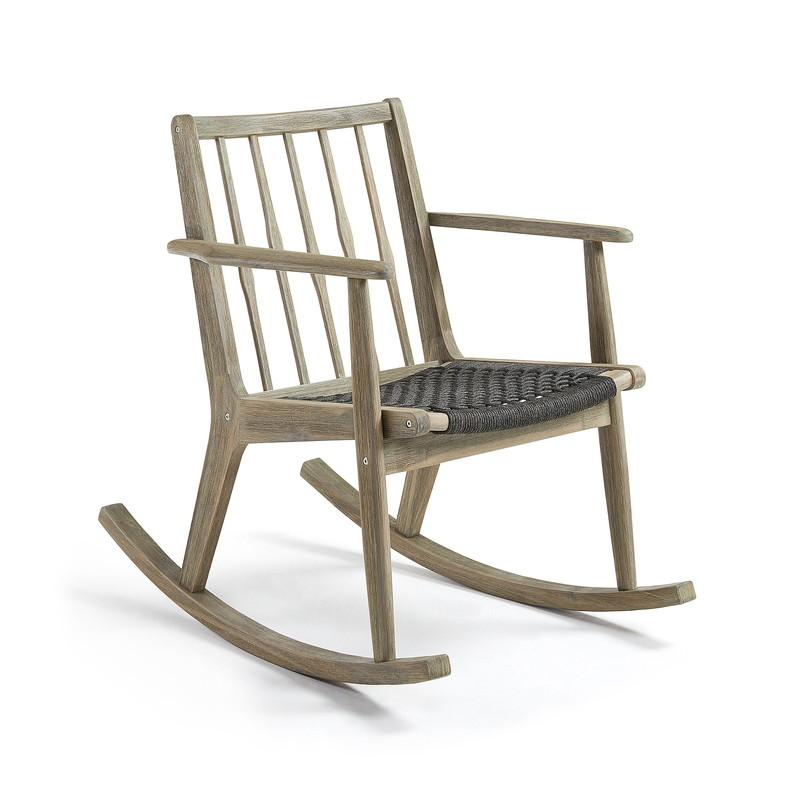 PHYLIP Rocking chair acacia grey wash rope dark grey