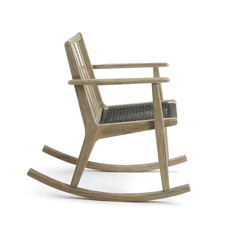 PHYLIP Rocking chair acacia grey wash rope dark grey
