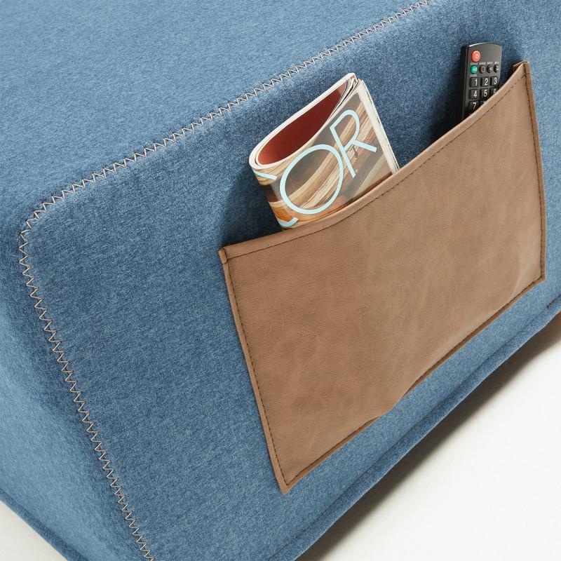 【SALE】VERSO Pouf bed fabric dark blue