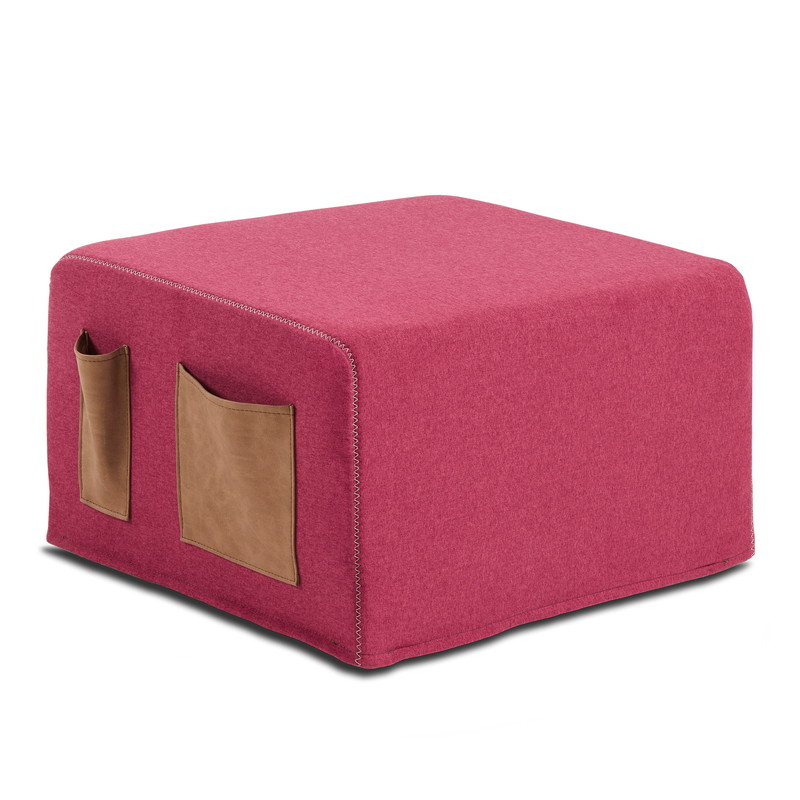 【SALE】VERSO Pouf bed fabric burgundy