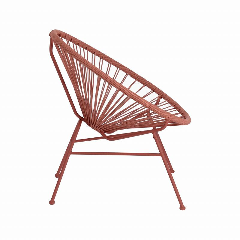 Samantha cord armchair in terracotta