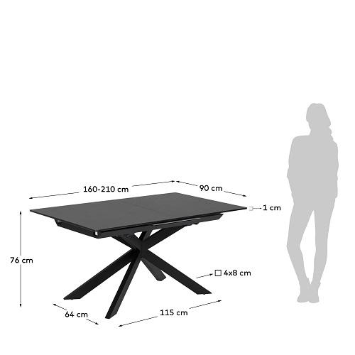 Atminda extendable table 160 (210) x 90 cm glass
