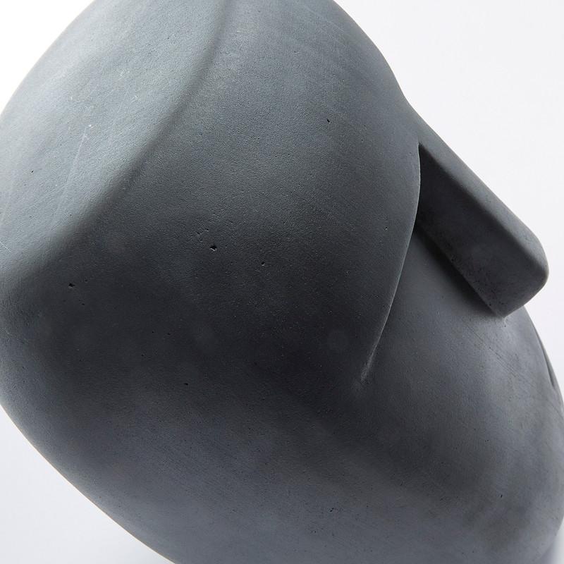 LEVIN Moai statue cement grey