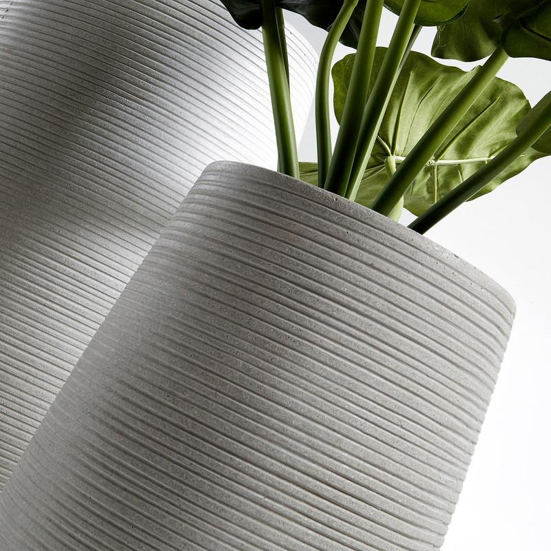 LIS Set 2 vases cement grey