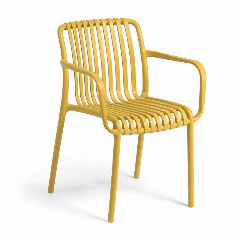 Isabellini garden chair in mustard