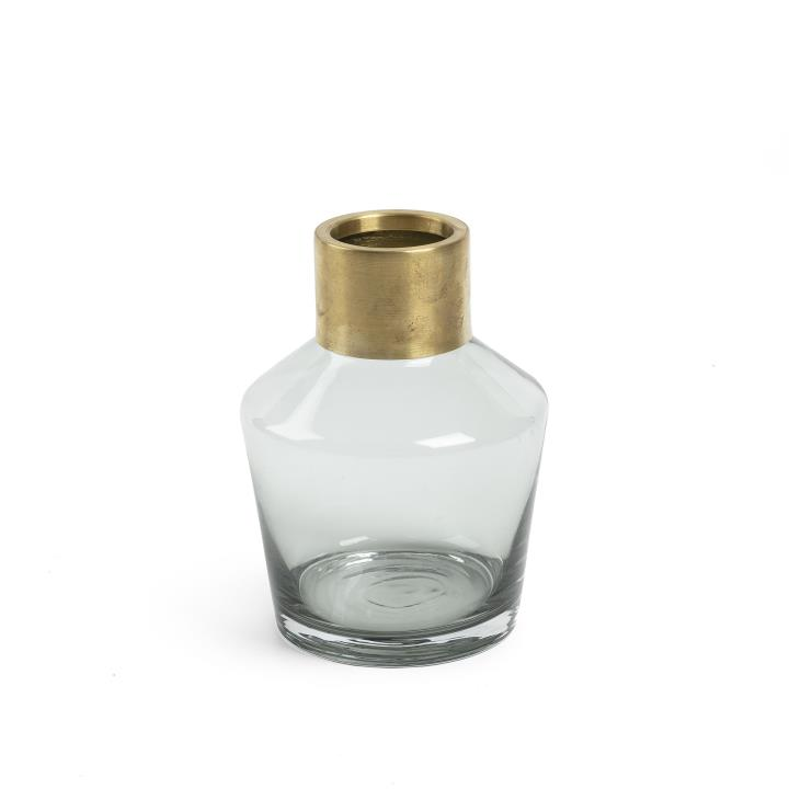 JACAR Vase 21 cm grey glass