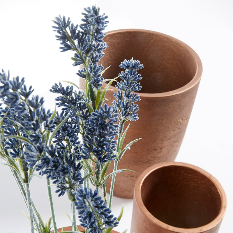 LUX Set 3 planters cement copper