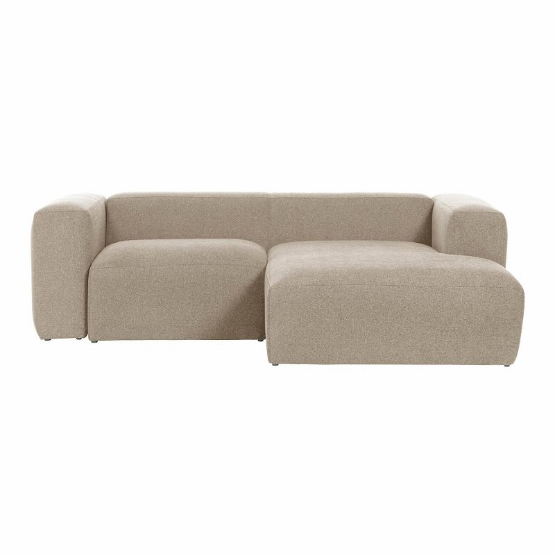 Blok 2-seater sofa with right chaise longue 240 cm Beige
