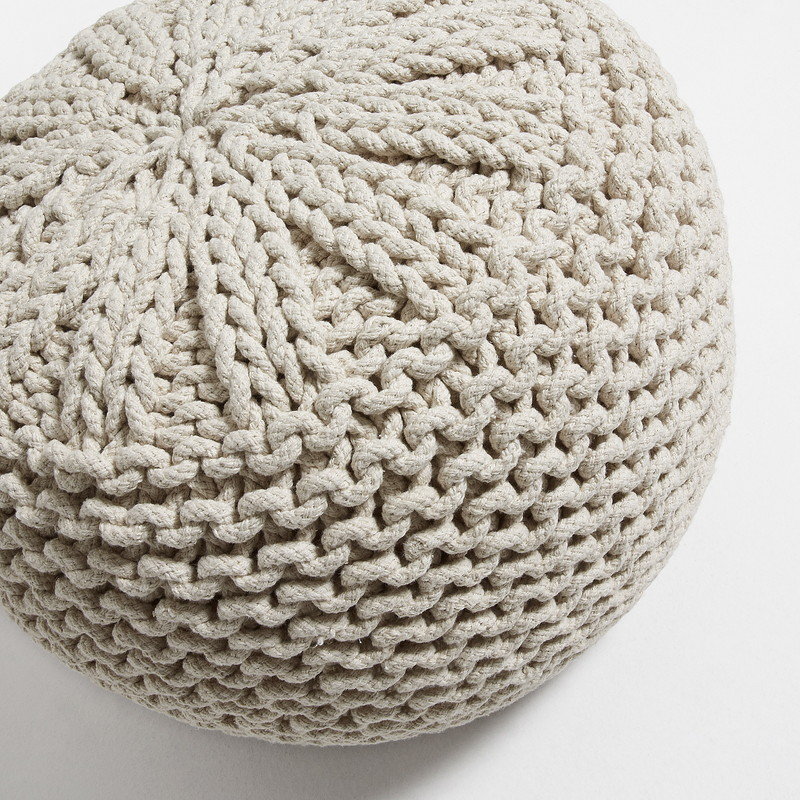 SHORE Pouf Cotton white