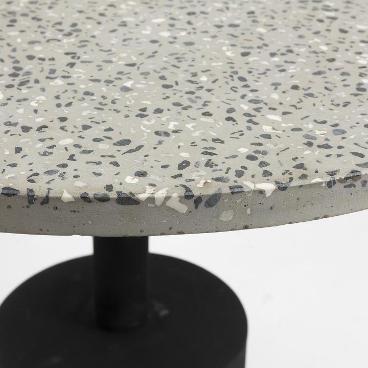 MELANO Side table terrazzo grey