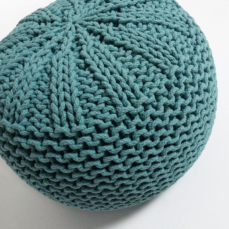 SHORE Pouf Cotton Turquoise