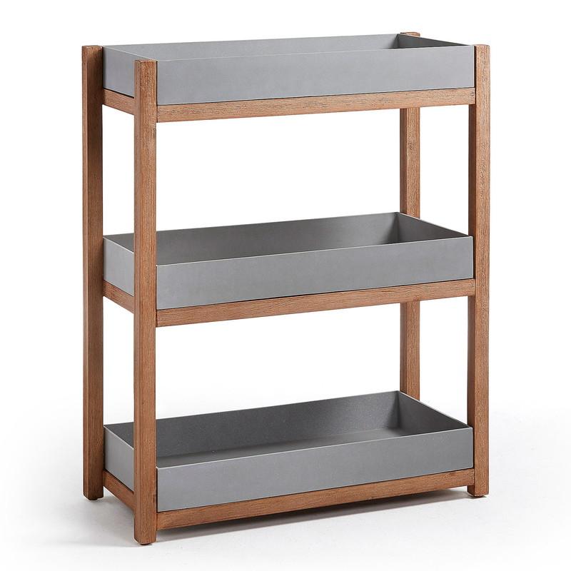 LUKA Shelf  acacia cement grey