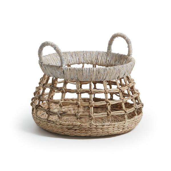 MENT Basket water hyacinth natural